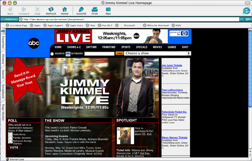 Poor Jimmy Kimmel web