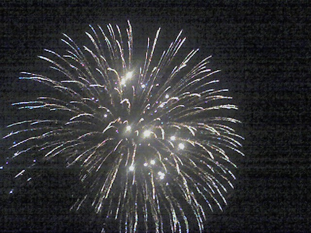 Fireworks at West Point, Iowa