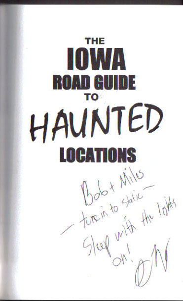 Haunted Iowa Autograph