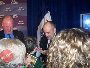 Miles Jr. Meets Rudy Giuliani