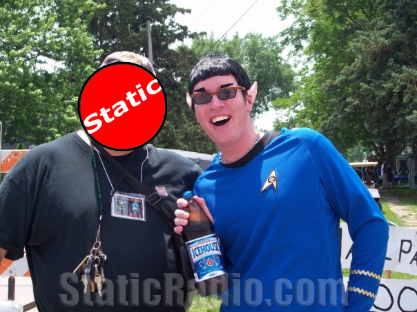 Spock falls off the wagon