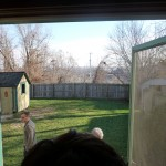 A Christmas Story House - Out the back door