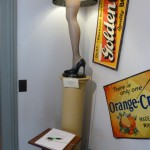 A Christmas Story House Museum - Leg Lamp and signs